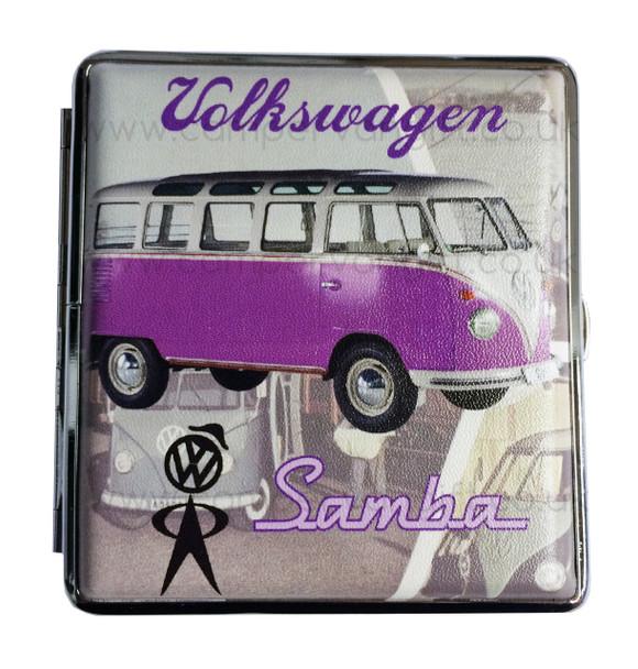 Official VW Vintage Campervan Cigarette Case - Purple