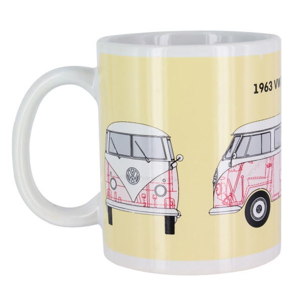 Volkswagen Campervan Heat Change Mug - Hot