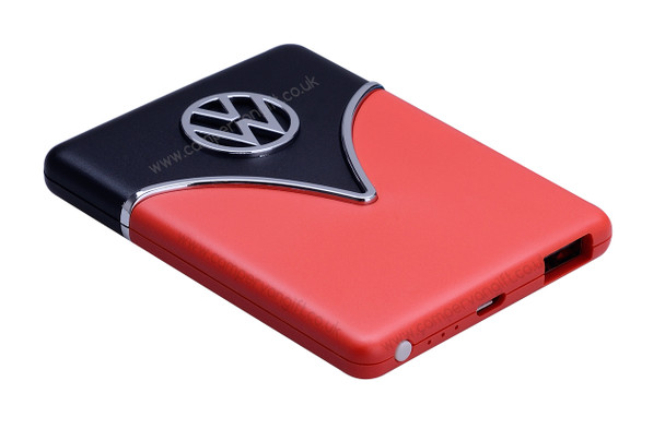 Volkswagen Portable Charging Power Bank - Black & Red