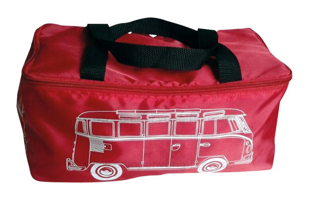 VW Campervan Picnic Blanket with Red Camper Carry Case