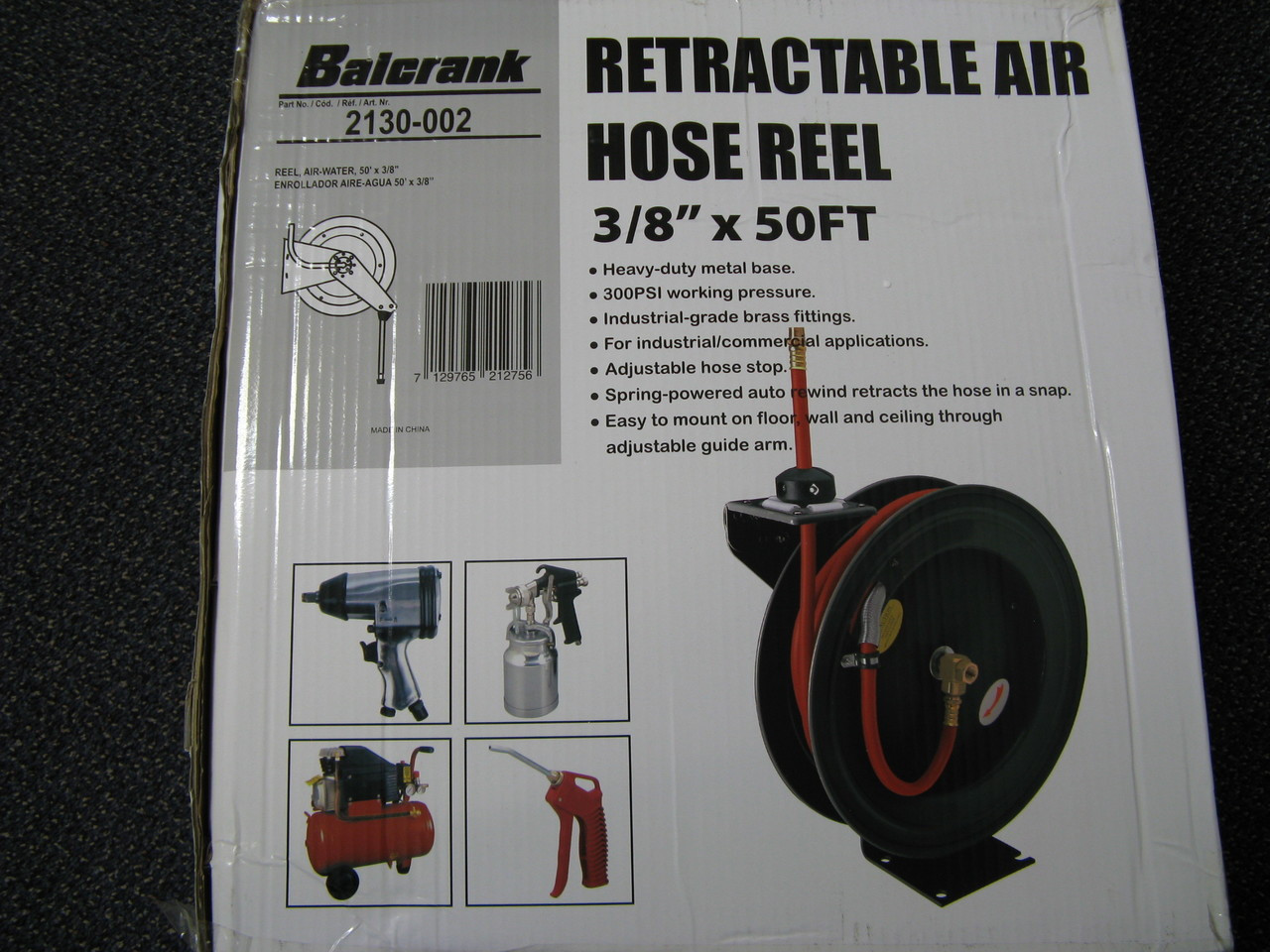 "2130-002 Balcrank Air Hose Reel 3/8"" x 50'"