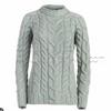 The  AISLING Ladies Aran Sweater In Seafoam Green Made In Ireland