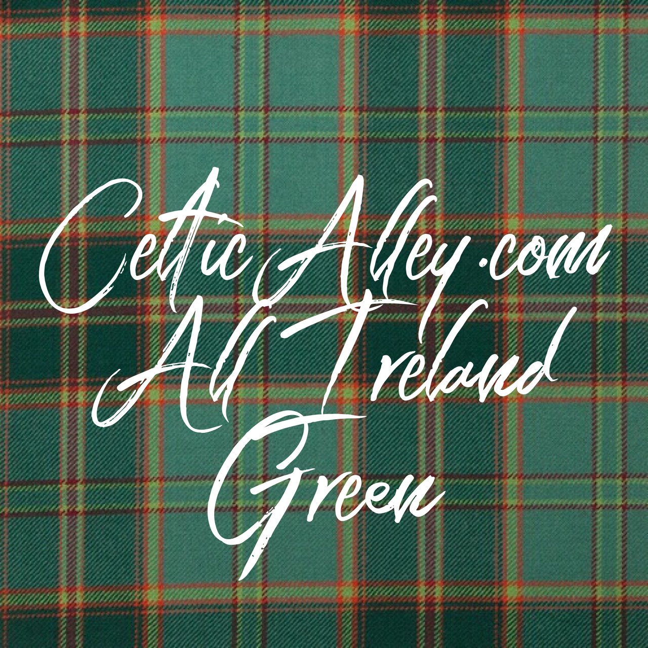 All Ireland Green Light Weight Tartan Fabric Material