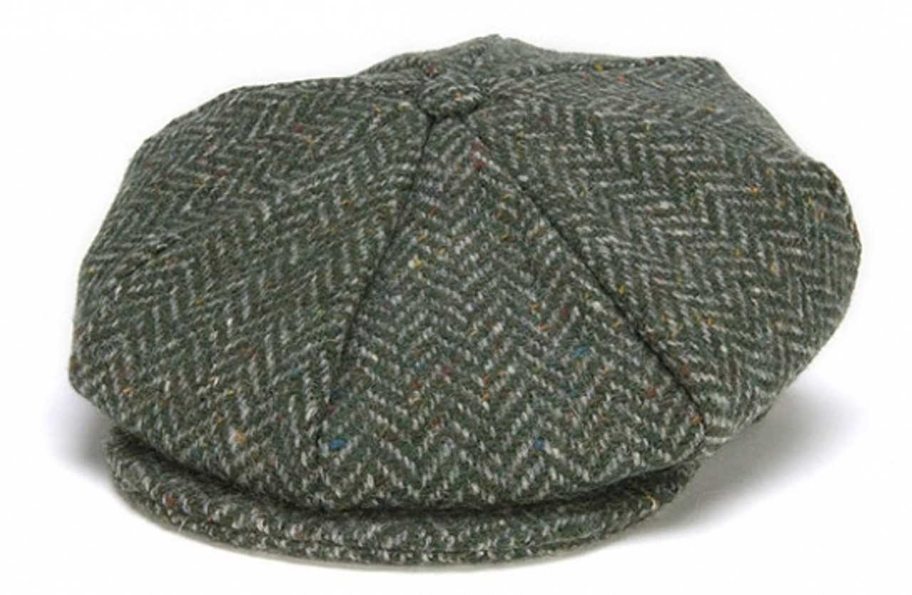 New Handmade Gray Herringbone Easter Hat for Boys