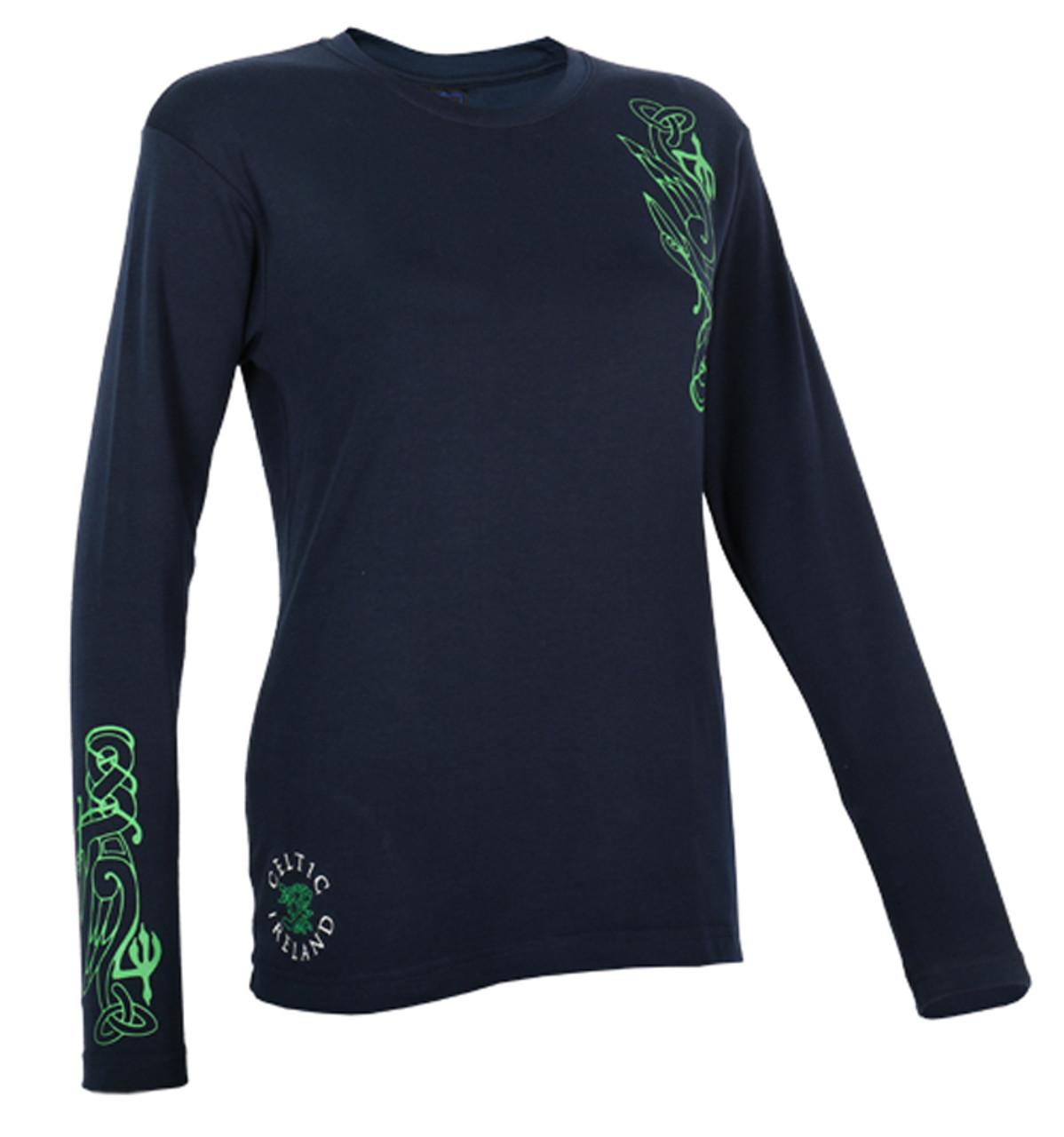 Navy Ireland Harp Crest Celts T-Shirt