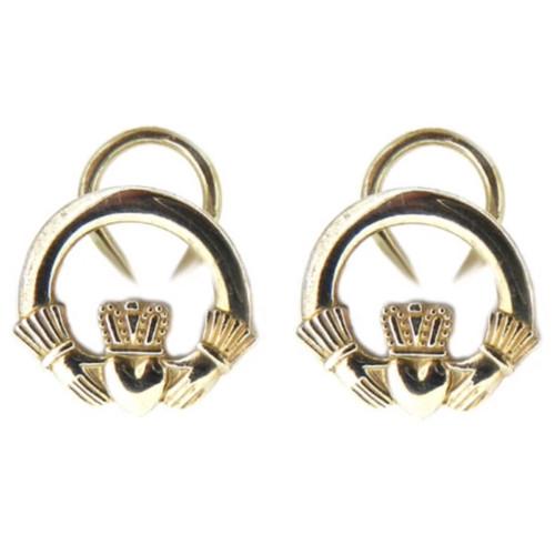 S/S Claddagh Clip on Earrings