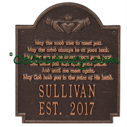 Claddagh Irish Blessing Address Plaque Customized