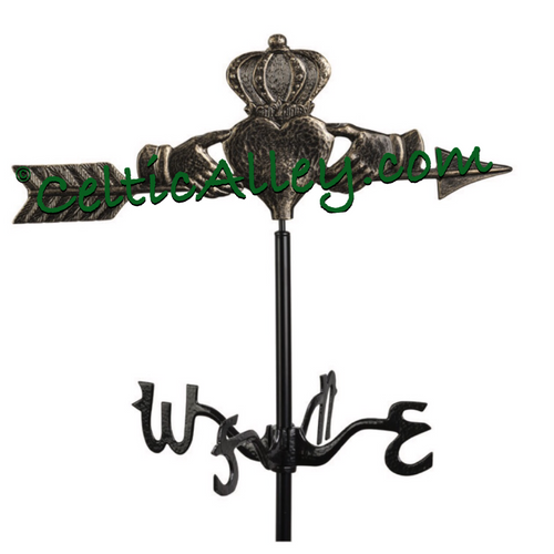 Irish Claddagh Garden Weathervane