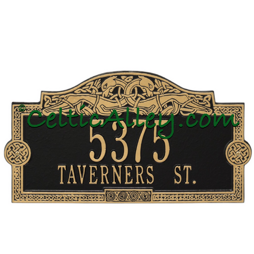 Celtic Dragon Address Plaque Customized