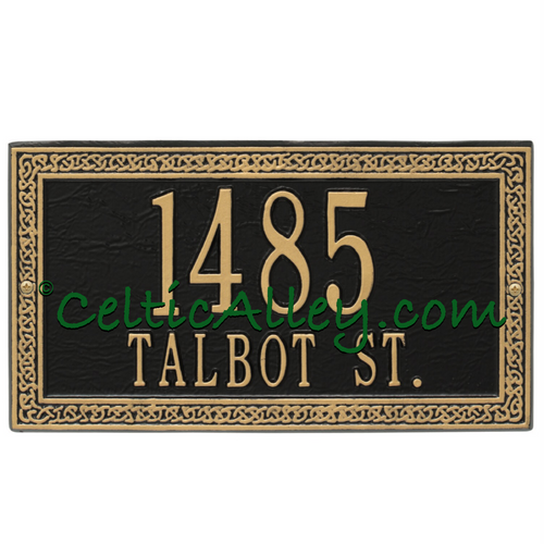 Celtic Cornerstone Address Plaque Customized