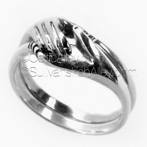 Cara Traditional Irish Friendship Ring - All Silver By Barry Doyle Design Dublin