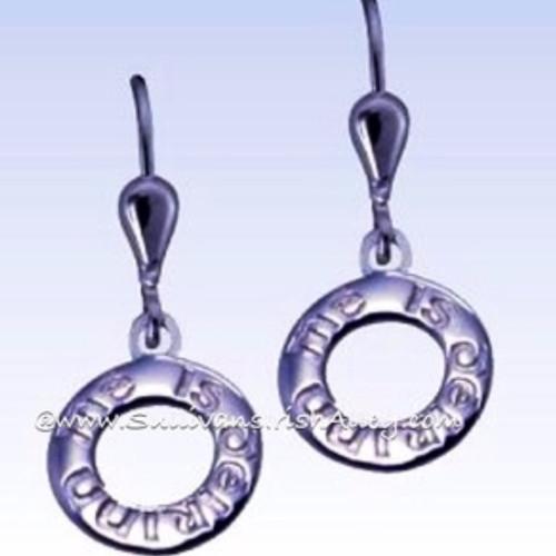 I Am of Ireland Single Drop Earrings in Sterling Silver HTF