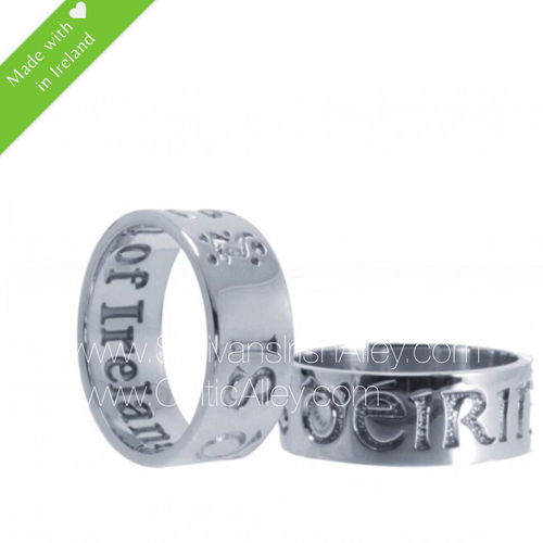 I Am of Ireland Celtic Band Ring in Sterling Silver