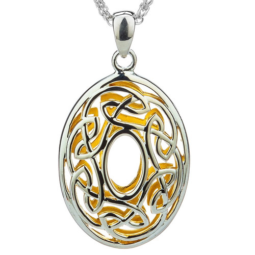 S/sil + 22k Gilded Window to the Soul Oval Pendant By Keith Jack PPX3630