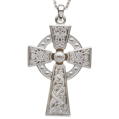 Celtic Warrior Shield Cross - Thicker Version In Sterling Silver by BORU (WC3)