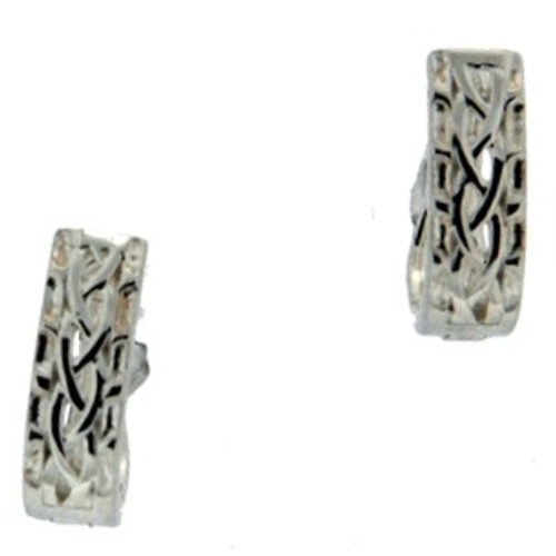 S/sil Celtic Weave Huggie Earrings By Keith Jack Window To The Soul PES4859