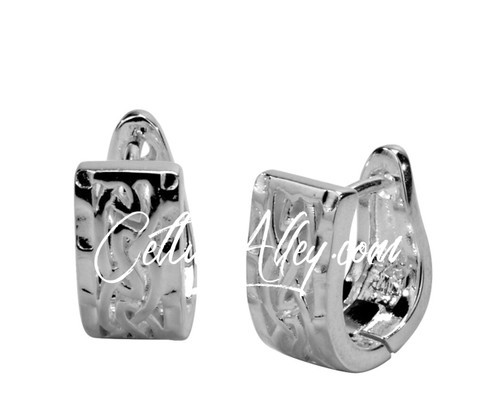 Sterling Silver Celtic Eternity Huggie Earrings by  KEITH JACK  Window To The Soul PES4862