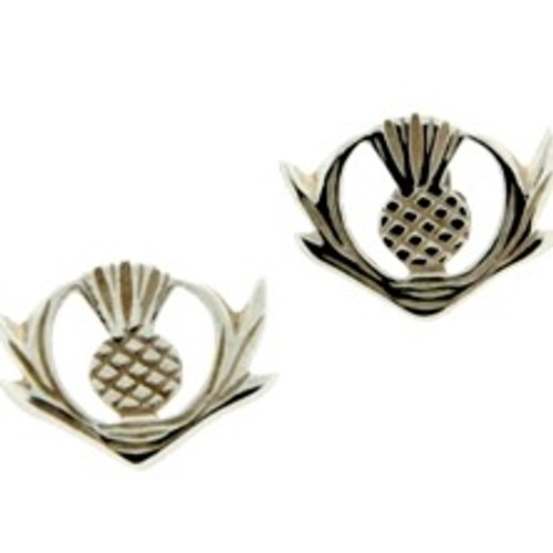 Sterling Silver Thistle Post Earrings by  KEITH JACK PE1290T