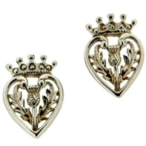 Sterling Silver Scottish Luckenbooth Post Earrings by  KEITH JACK PE1295TLUC