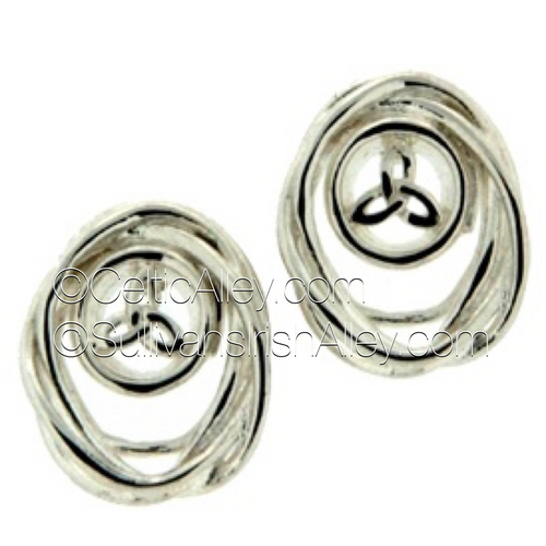 These earrings are part of the Cradle of Life Collection.  Materials:  Sterling Silver  Dimensions (w x h):  1/2″  x  5/8″  Details: post