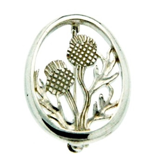 Sterling Silver Thistle Brooch PB1293T by KEITH JACK from the Scottish Collection