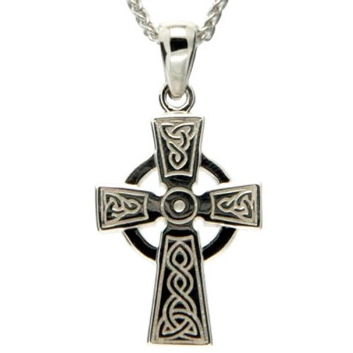 Sterling Silver Celtic Cross Small Pendant by KEITH JACK PCR3048