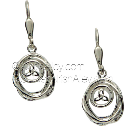 These earrings are part of the Cradle of Life Collection.     Materials:  Sterling Silver  Dimensions (w x h):  1/2″  x  3/4″  Details:  leverback     Wear these earrings as a reminder that our lives are forever intertwined with the lives of those we love.  Pair with the PPS10479 Cradle of Life necklace to complete the set.
