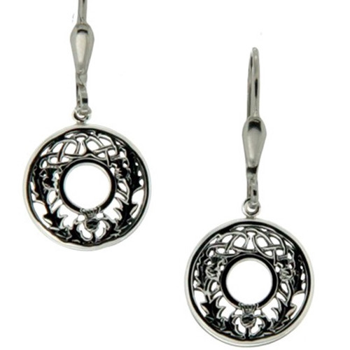 S/sil Thistle Leverback Earrings By Keith Jack