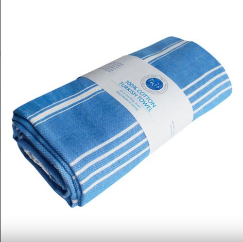 INIS Blue Turkish Towel 100% Cotton