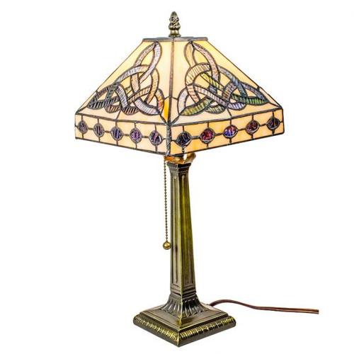 """Trinity Knot Tiffany Style Celtic Lamp 18"""" BOE649"""