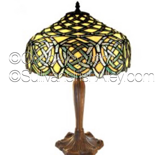 "Jeweled Celtic Tiffany Style Stained Glass Lamp 22"" BOE669"