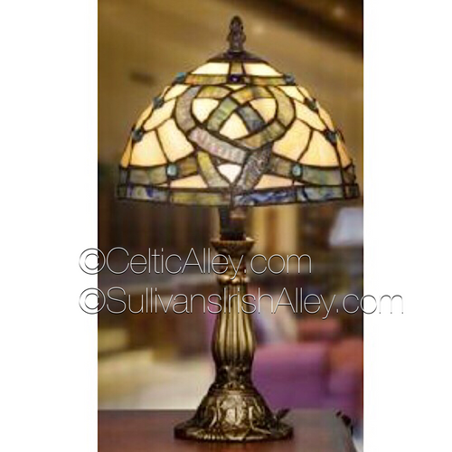 "Celtic Pathways Stained Glass Lamp 14.5"" L004"