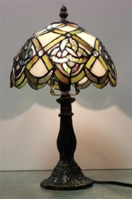 "Irish Celtic Trinity Life Stained Glass Lamp 14.5"" L005"