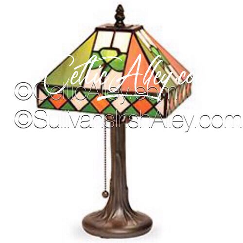Irish TriColor St. Patrick's Day Celebration Stained Glass Lamp L008