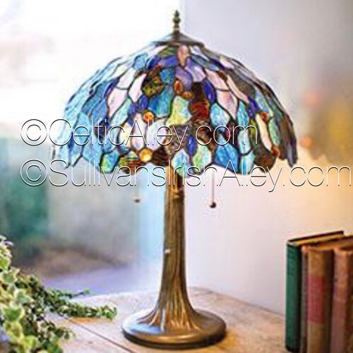"""Celtic Fairy Pools Stained Glass Lamp 16"""""""
