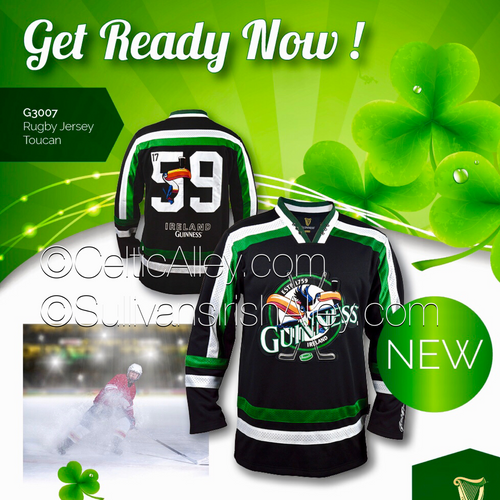 Official Guinness Toucan Hockey Jersey Black and Green 2018 ... cb305190155