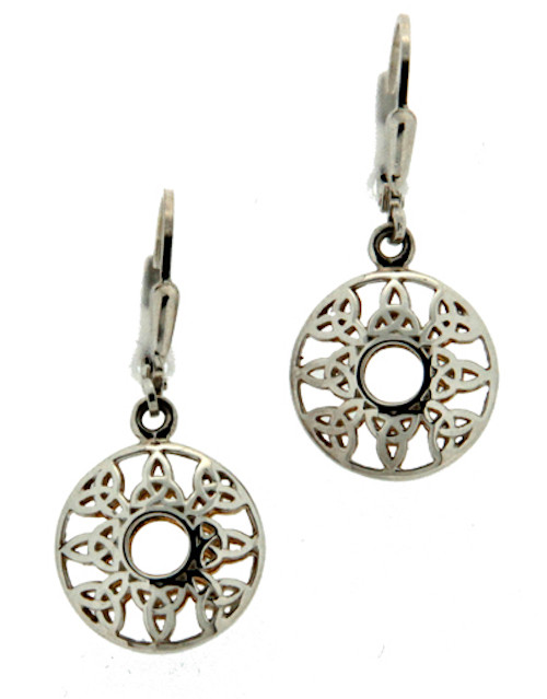 Sterling Silver and 22k Gilded Window to the Soul Trinity Leverback Earrings by  KEITH JACK PEX4805