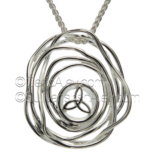 This pendant is part of the Cradle of Life Collection.     Materials:  Sterling Silver  Dimensions (w x h):  1″  x  1 1/8″  Details: comes with Sterling Silver 18″ Spiga chain     Wear this pendant as a reminder that our lives are forever intertwined with those we love. Pair this piece with the PES10480 or PES10480-D Cradle of Life earrings to complete the set.