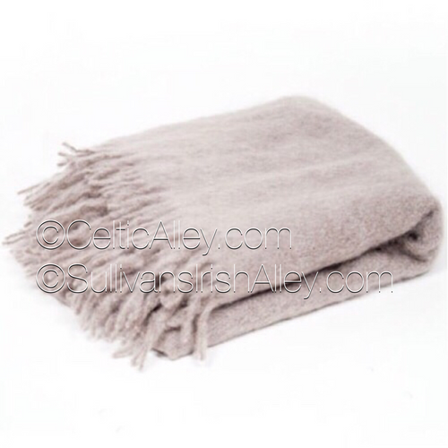 Classic Mink Mohair Throw Made In Ireland by Simply Birch