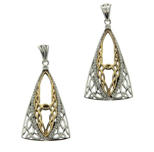 S/sil Rhodium + 10k CZ Tower Gateway Earrings By Keith Jack