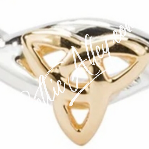 TRINITY KNOT RING Infinity in  Sterling Silver and 10k Yellow Gold By Keith Jack