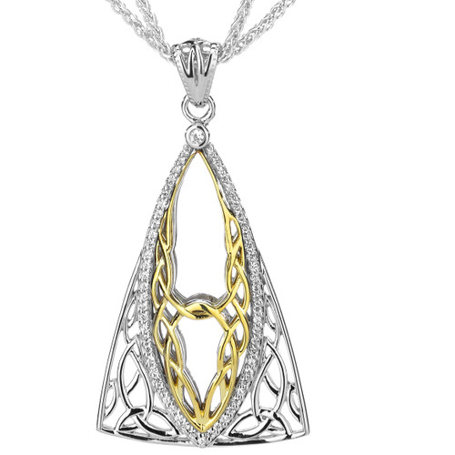 S/sil Rhodium + 10k CZ Tower Gateway Pendant By Keith Jack