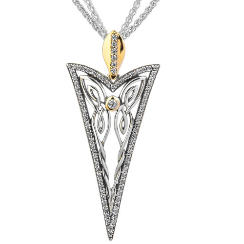 S/sil + 10k CZ  Butterfly Gateway Pendant By Keith Jack