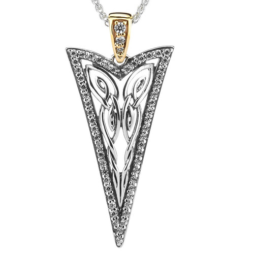 S/sil + 10k CZ Butterfly Gateway Small Pendant  By Keith Jack