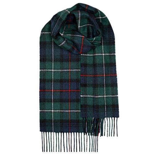 MACKAY MODERN TARTAN LAMBSWOOL SCARF Made in Scotland