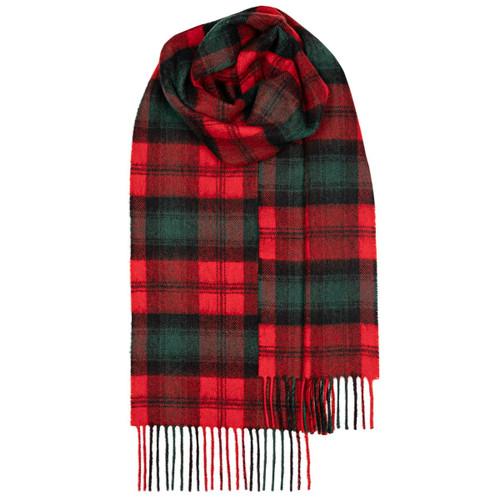 KERR MODERN TARTAN LAMBSWOOL SCARF Made In Scotland