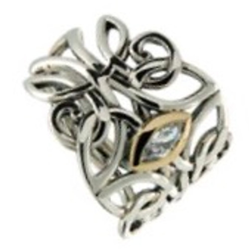 S/sil + 10k CZ Guardian Angel Ring By Keith Jack