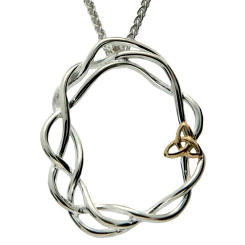 S/sil + 10k Infinity Knot Pendant By Keith Jack