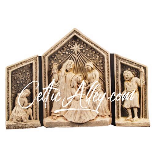 Freestanding Nativity Set Plaque by McHarp