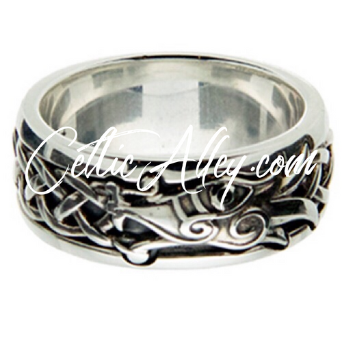 DRAGON RING in  Sterling Silver and Black Cubic Zirconia by Keith Jack PRS7263